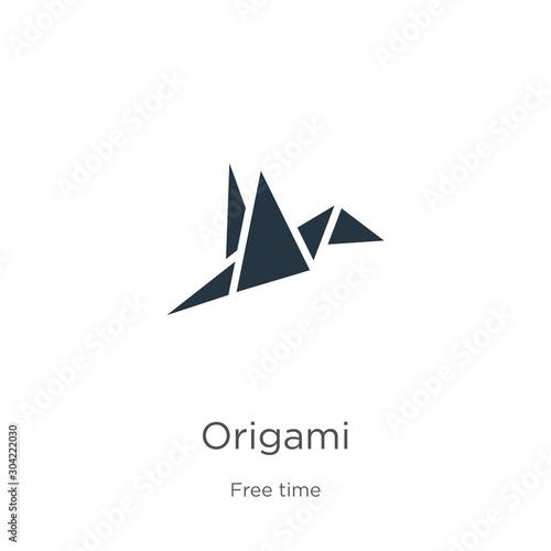 Obraz na plátně Origami icon vector