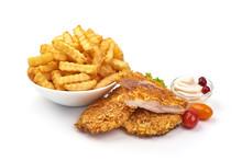 Fried Chicken Strips In Breadc...
