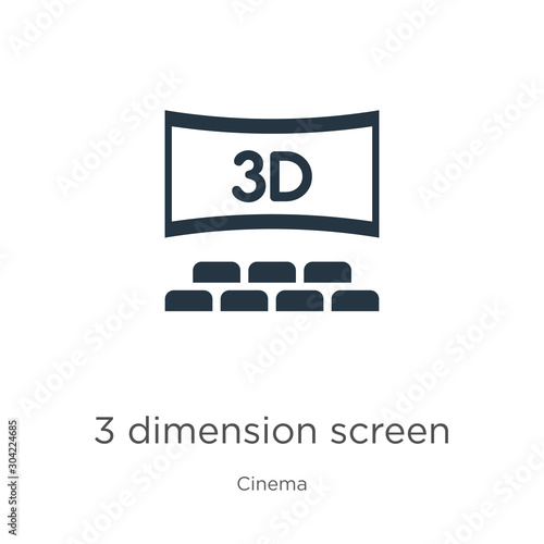 Photo  3 dimension screen icon vector
