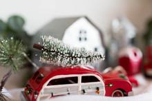 Vintage Station Wagon Christmas Tree Ornament