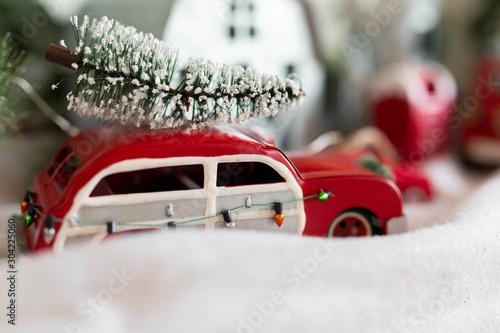 Photo  Vintage Station Wagon Christmas Tree Ornament