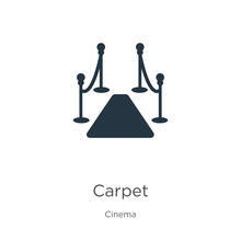 Red Carpet Icon Vector. Trendy Flat Red Carpet Icon From Cinema Collection Isolated On White Background. Vector Illustration Can Be Used For Web And Mobile Graphic Design, Logo, Eps10