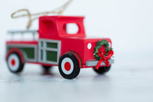 Little Red Truck Model Christmas Tree Ornament