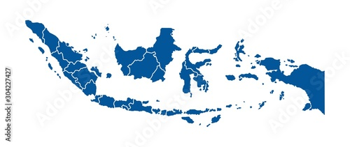 Photo Map of Indonesia