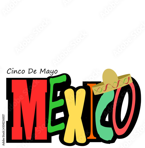 Mexico Cinco De Mayo design with copy space #304236807