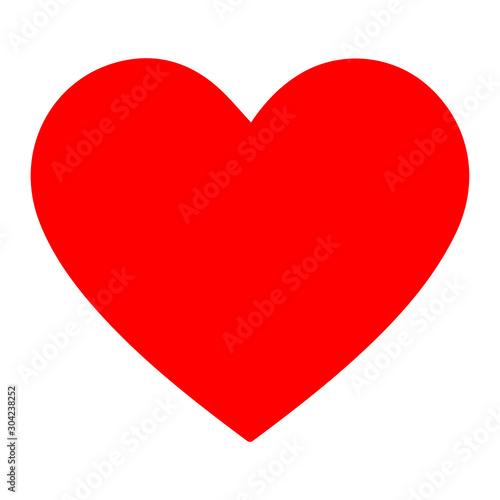 Fototapeta Red heart icon design element. Logo element vector illustration. Love symbol icon. obraz na płótnie