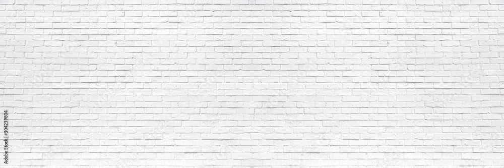 Fototapeta white brick wall may used as background