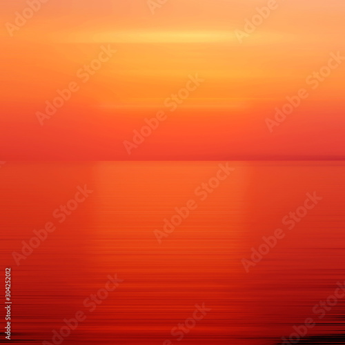 Foto auf AluDibond Rot Red abstract background motion blur sunset on the sea