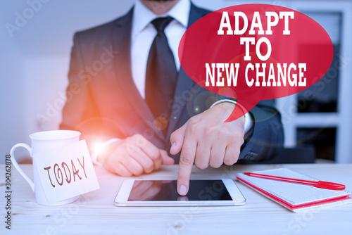 Photo Handwriting text writing Adapt To New Change