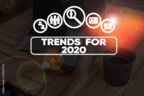 Cuadros en Lienzo Conceptual hand writing showing Trends For 2020