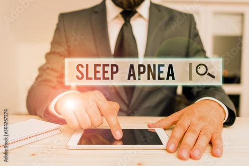 Photo Conceptual hand writing showing Sleep Apnea