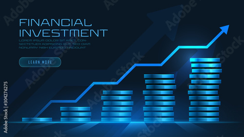 Fotomural  Concept art of financial growth