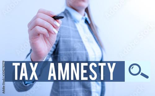 Handwriting text writing Tax Amnesty Canvas Print