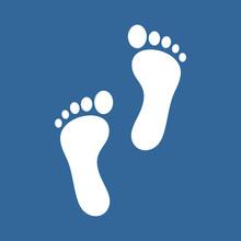 Human Footprint Icon Vector De...