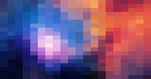 Colorful Grid Mosaic Background, Creative Design Templates. Abstract Colorful Gradient Rectangles Check . Background Of Squares Different Pixel Pattern Shades.