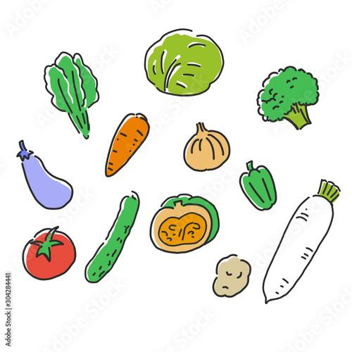 手書き風の野菜イラスト