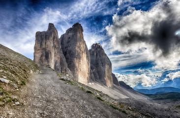 Tre cime di lavaredo in Italian Alps
