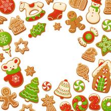Cartoon Gingerbread Cookies Fo...