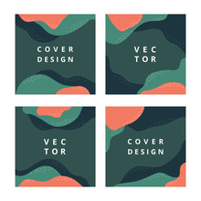 Set Of Square Abstract Banner ...