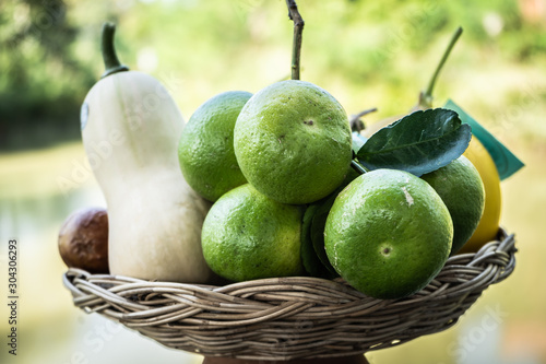 very Fresh harvest  from Organic farm products Canvas Print