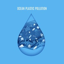 Ocean Plastic Pollution Poster...