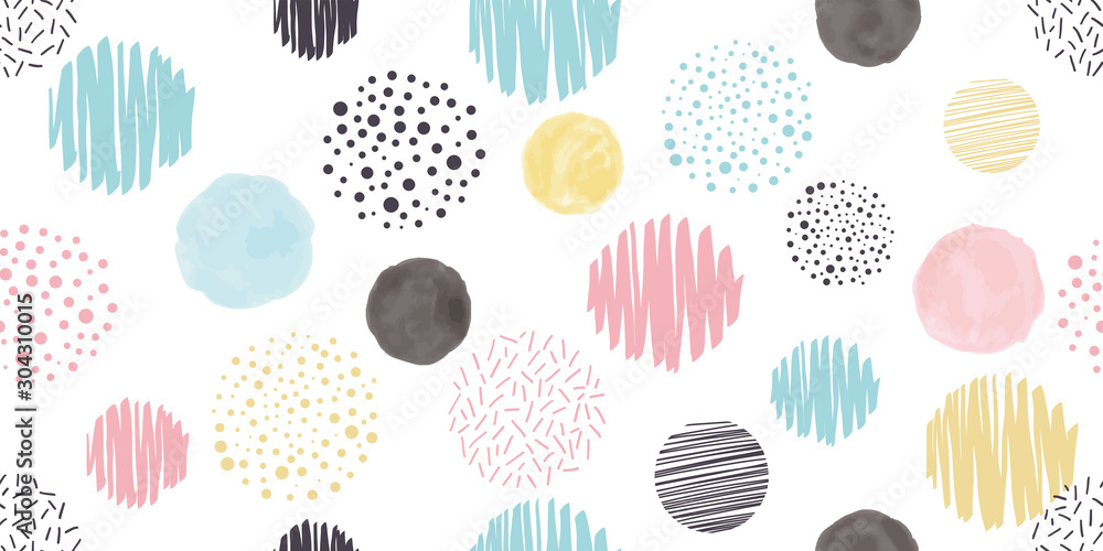 Fototapeta Cute geometric background. Seamless pattern.Vector. かわいい幾何学パターン