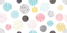 Cute Geometric Background. Seamless Pattern.Vector. かわいい幾何学パターン