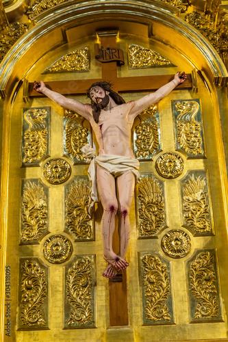 Basilica Altar Jesus Crucifixion San Fernando Cathedral San Antonio Texas