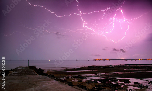 Fotomural Storms and lightning in Darwin, Northern Territory Australia.