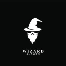 Wizard Logo Icon Design Vector Illustration