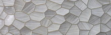 Gray Kitchen Ceramic Tile With...