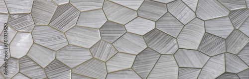 gray kitchen ceramic tile with abstract geometric mosaic pattern