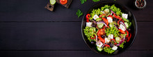 Healthy Food. Greek Salad With...