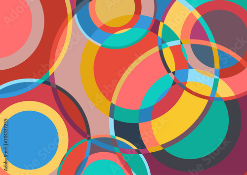 Digital painting. Abstract vector background
