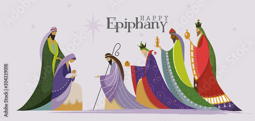 Foto Vector Illustration of Epiphany, Epiphany is a Christian feast day