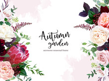 Luxury Fall Flowers Vector Des...