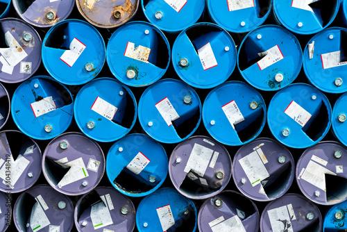 Fotografía  Old chemical barrels