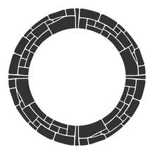 Abstract Round Frame, Circular...