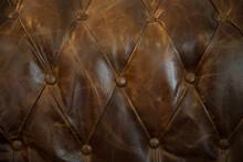 Textura De Sofa Antiguo De Piel