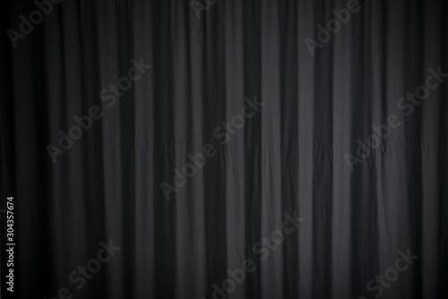 Valokuvatapetti textura de cortina negra con luces
