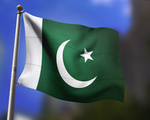 Pakistani Flag In The Wind