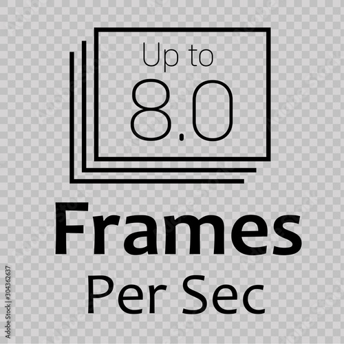 Photo  Frames Per Second Icon. Vector