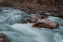 Rapids On The Mountain River K...