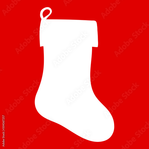 isolated, new year sock silhouette for gifts Poster Mural XXL