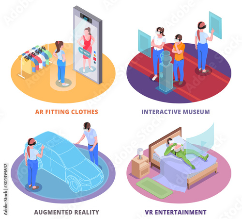 Virtual Augmented Reality Concept Canvas Print