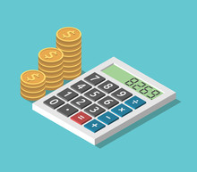 Isometric Calculator, Coins St...