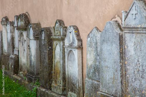 Vászonkép tombstones on the wall