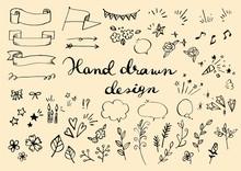手描きのイラスト素材セット