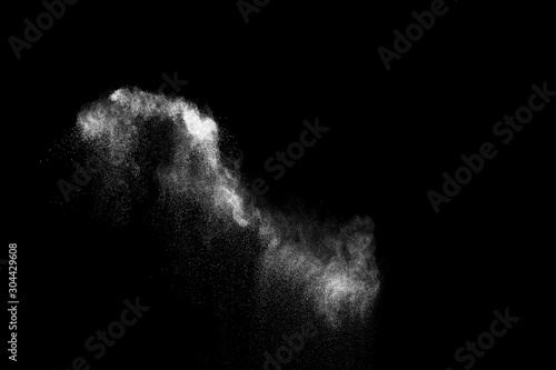 Pinturas sobre lienzo  White powder explosion cloud against black background