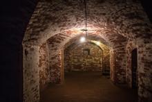 Antique Brick Arched Corridor